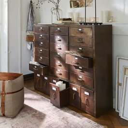 Commode Hennepin marron vieilli
