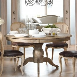 Table Beaumont marron-gris