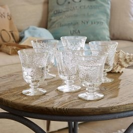 Lot de 6 verres à eau Abèle transparent