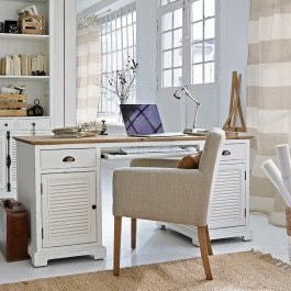 Bureau Belleplain blanc/marron