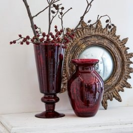 Lot de 2 vases Darian rouge