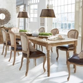 Table Bergenfield marron-gris