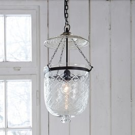 Suspension Rowan transparent/noir