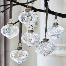 Lot de 6 décorations de Noël Cheshire transparent