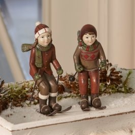 Lot de 2 figurines Bibury rouge/vert