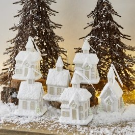 Lot de 6 décorations de Noël Legé blanc