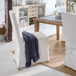 Chaise Fridley blanc