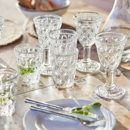 Lot de 8 verres Vérane transparent