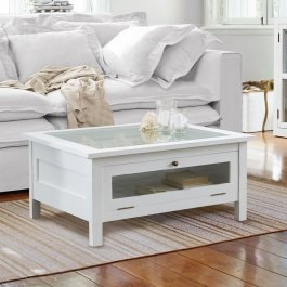 Table basse Hounslow blanc vieilli