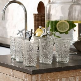 Lot de 6 verres Fleury transparent