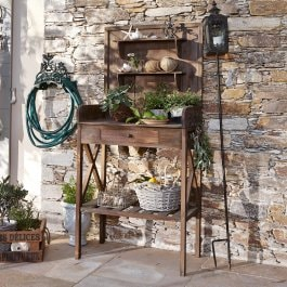 Table de jardinage Greensville marron