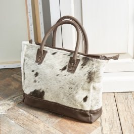 Sac Terlin marron/blanc