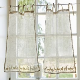 Lot de 2 brise-bise Hunt beige