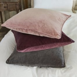 Lot de 3 coussins Amalina rouge/rose/gris