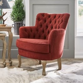 Fauteuil Calgary rouge