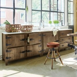 Kitchenette Bettford marron