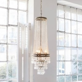 Lustre Branca transparent
