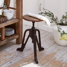 Tabouret Tex marron