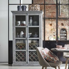 Armoire Minneapolis marron-gris