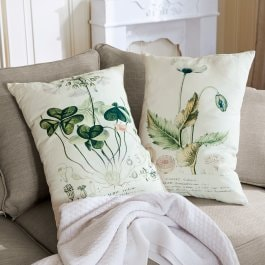 Lot de 2 coussins Botanical beige