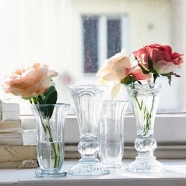 Lot de 4 vases Filla transparent
