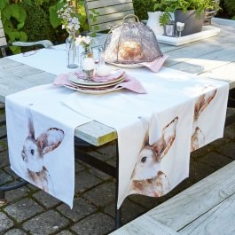 Lot de 2 chemins de table Barlington blanc