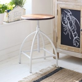 Tabouret Connantre marron/blanc