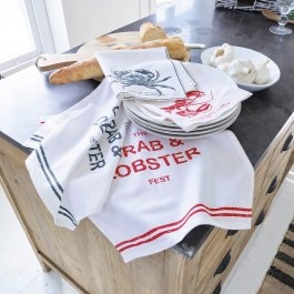 Lot de 4 serviettes Lobster blanc