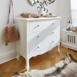 Commode Hopewell blanc vieilli