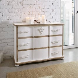 Commode Lomont blanc/marron