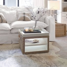 Table basse Rouze marron/blanc