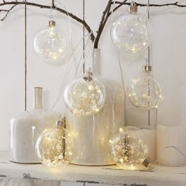 Lot de 6 décorations de Noël Gisella transparent