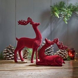 Lot de 2 cerfs Yvrac rouge