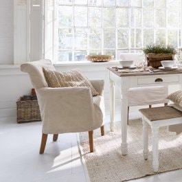Fauteuil Amherst beige