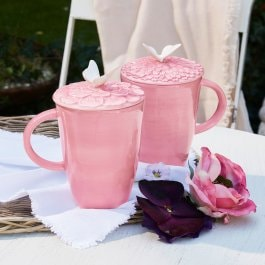 Lot de 2 tasses Daireann rose