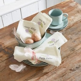 Lot de 4 serviettes Braam crème