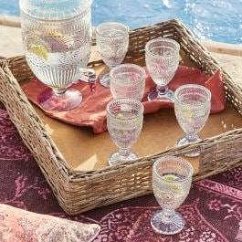 Lot de 6 verres Leatrice transparent