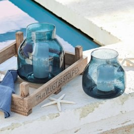 Lot de 2 vases Allegra bleu