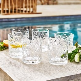 Lot de 6 verres à whisky Bayonne transparent