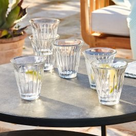 Lot de 6 verres Lesly transparent