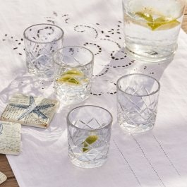 Lot de 4 verres Cadrik transparent