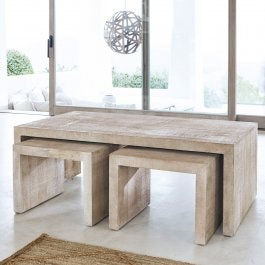 Lot de 3 tables basses Bostans marron