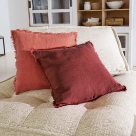 Lot de 2 housses de coussins Steevy orange