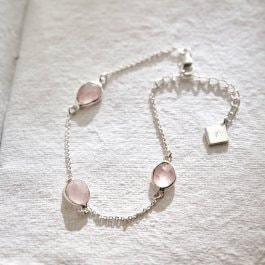 Bracelet Meadow argenté/rose