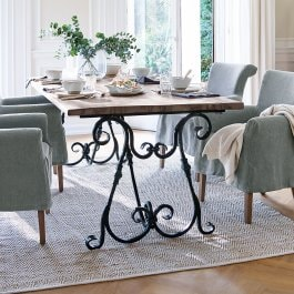 Table Meridien marron/noir