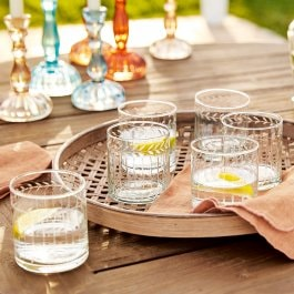 Lot de 6 verres Padiès transparent