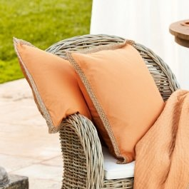 Lot de 2 coussins Roquebrun orange