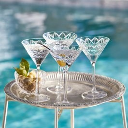 Lot de 4 verres à Martini Bayonne transparent