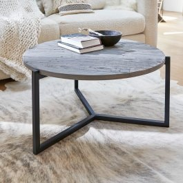 Table basse Thiran marron/noir
