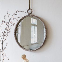 Miroir Williams marron vieilli